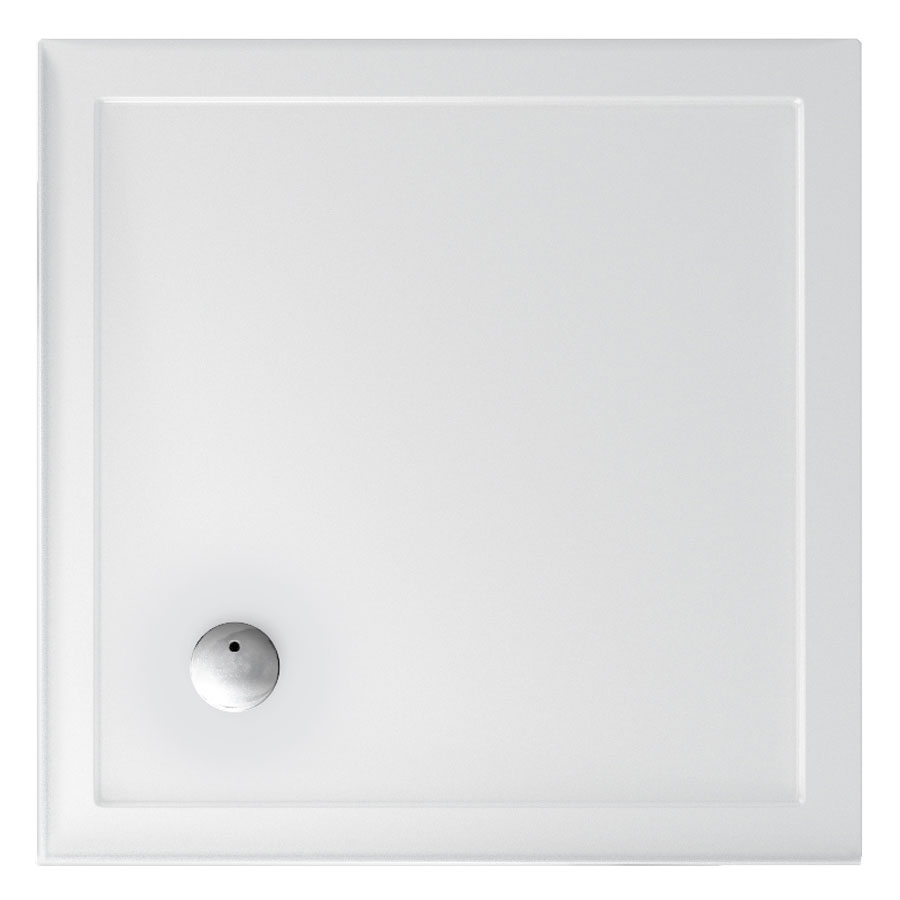 Zamori - 35mm Square Shower Tray with Sided Upstand - Various Size Options Large Image