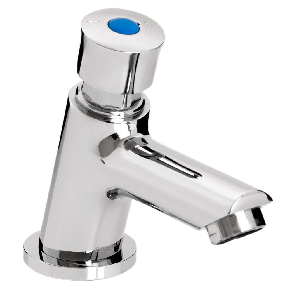 Bristan - Single Luxury Soft Touch Timed Flow Basin Tap with Flow Regulator - Z2-LUX-1/2-C profile large image view 1