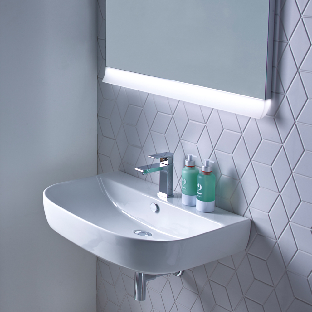 Roper Rhodes Zest 500mm Wall Mounted or Countertop Basin - Z50SB profile large image view 2