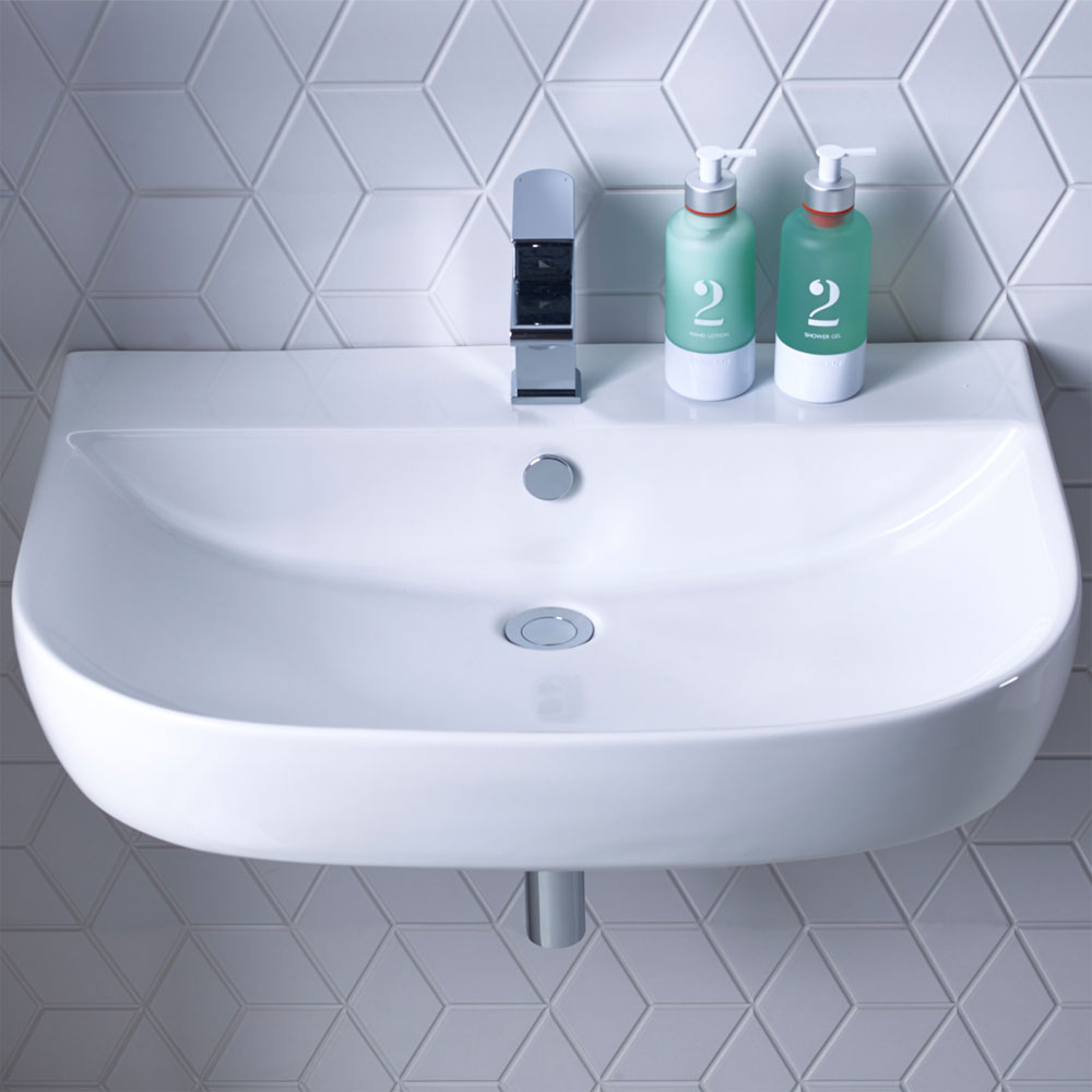 Roper Rhodes Zest 600mm Wall Mounted or Countertop Basin - Z60SB profile large image view 2