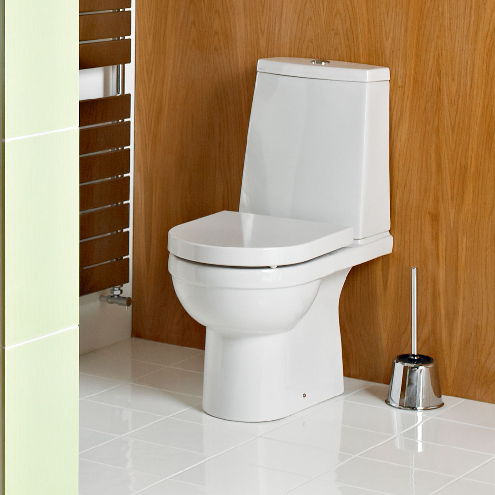 Heritage Zaar Open Back Toilet with Soft Close Seat Feature Large Image