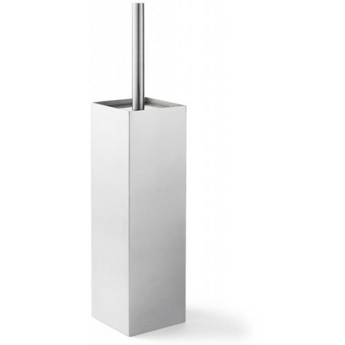 Zack Xero Enclosed Free Standing Toilet Brush - Stainless Steel - 40014 Large Image
