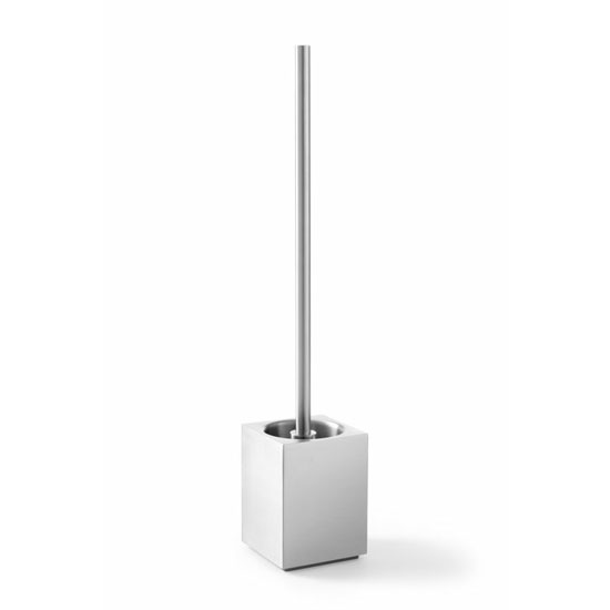 Zack Xero Cube Free Standing Toilet Brush - Stainless Steel - 40015 Large Image