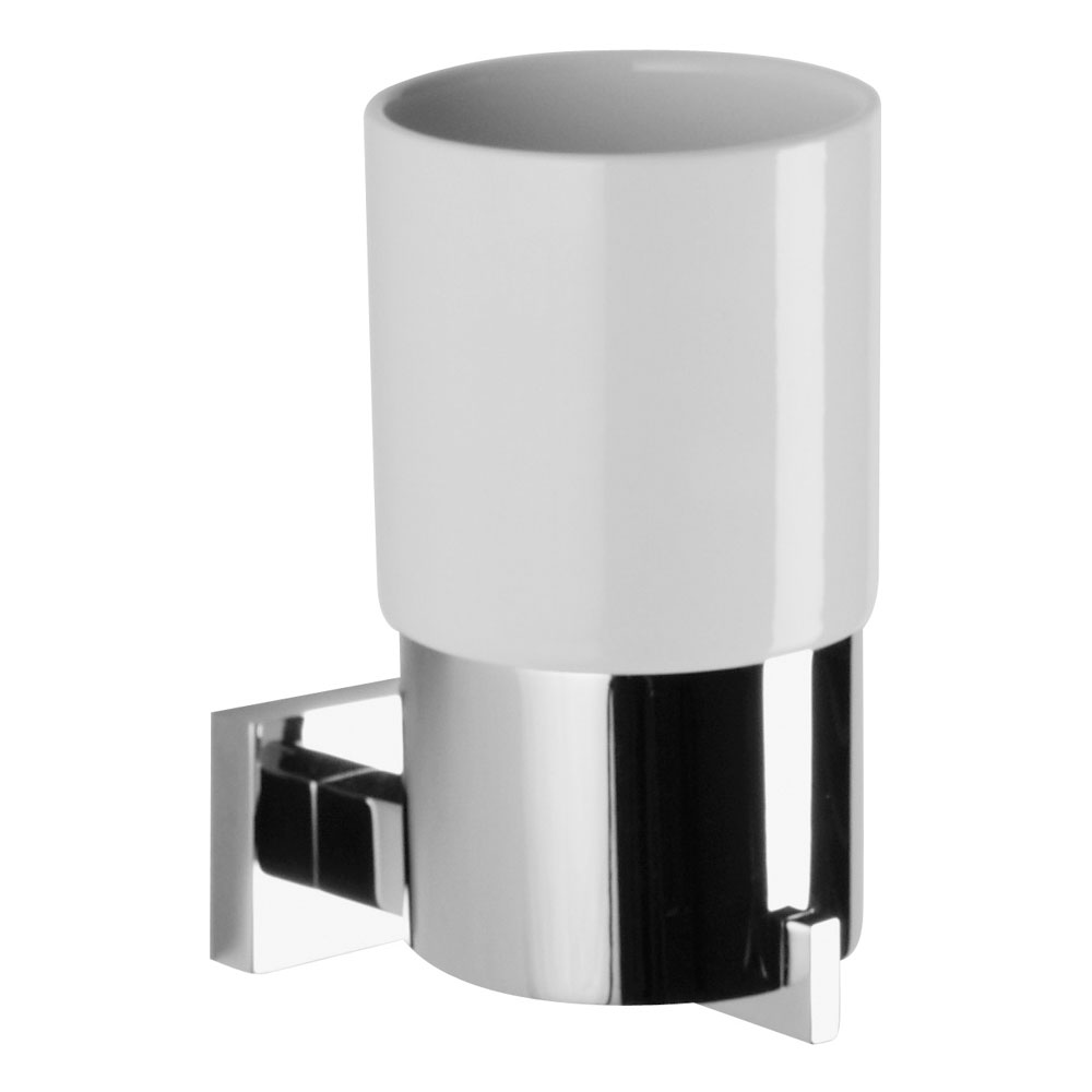 Crosswater - Zeya Ceramic Tumbler and Holder - ZE003C Large Image