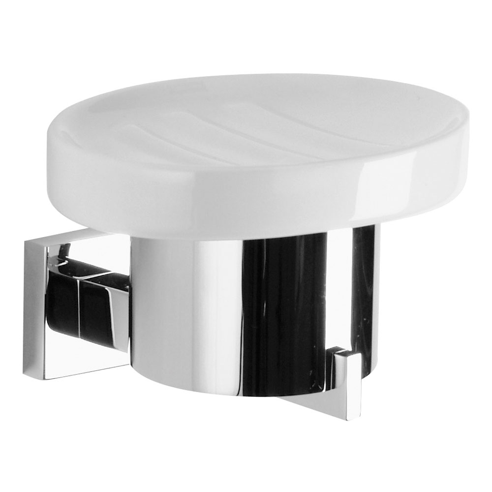 Crosswater - Zeya Ceramic Soap Dish and Holder - ZE005C profile large image view 1
