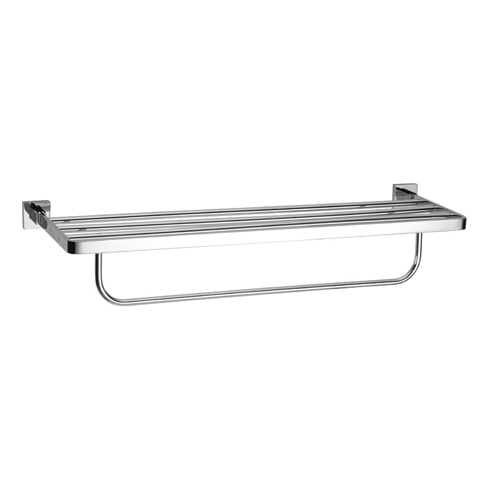 Crosswater - Zeya 600mm 2 Tier Chrome Towel Rail - ZE026C Large Image