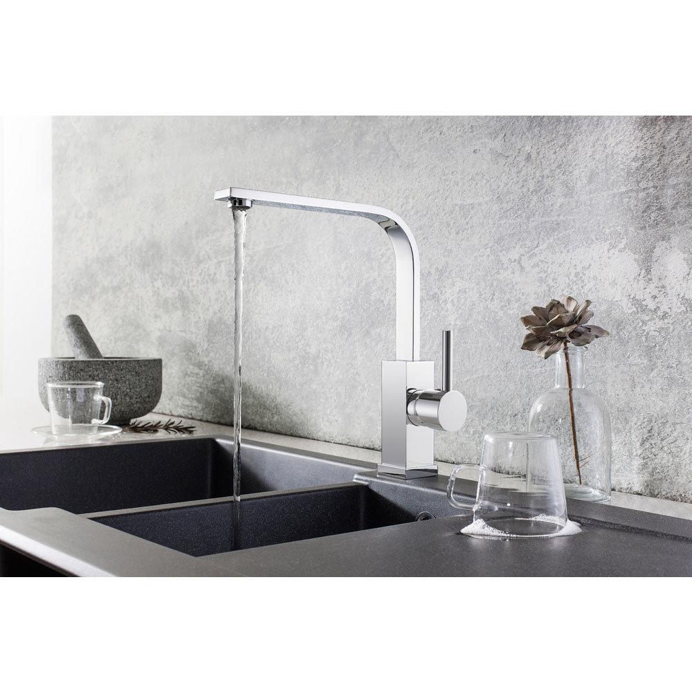 Crosswater Cucina Zeya Side Lever Kitchen Mixer - Chrome - ZE714DC Profile Large Image