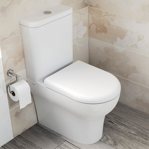 Vitra - Zentrum Close Coupled Toilet - Closed Back - 2 x Seat Options profile large image view 2