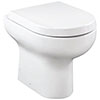 Britton Bathrooms Zen Back to Wall Pan + Soft Close Seat profile small image view 1