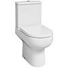 Britton Bathrooms Zen Close Coupled Toilet + Soft Close Seat profile small image view 1