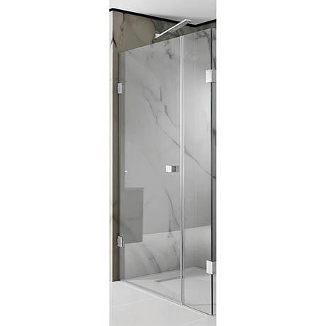Simpsons Zion Hinged Shower Door with Inline Panel