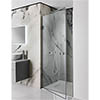 Simpsons Zion Hinged Shower Door profile small image view 1