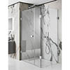 Simpsons Zion Hinged Shower Door with Inline & Fixed Panel profile small image view 1