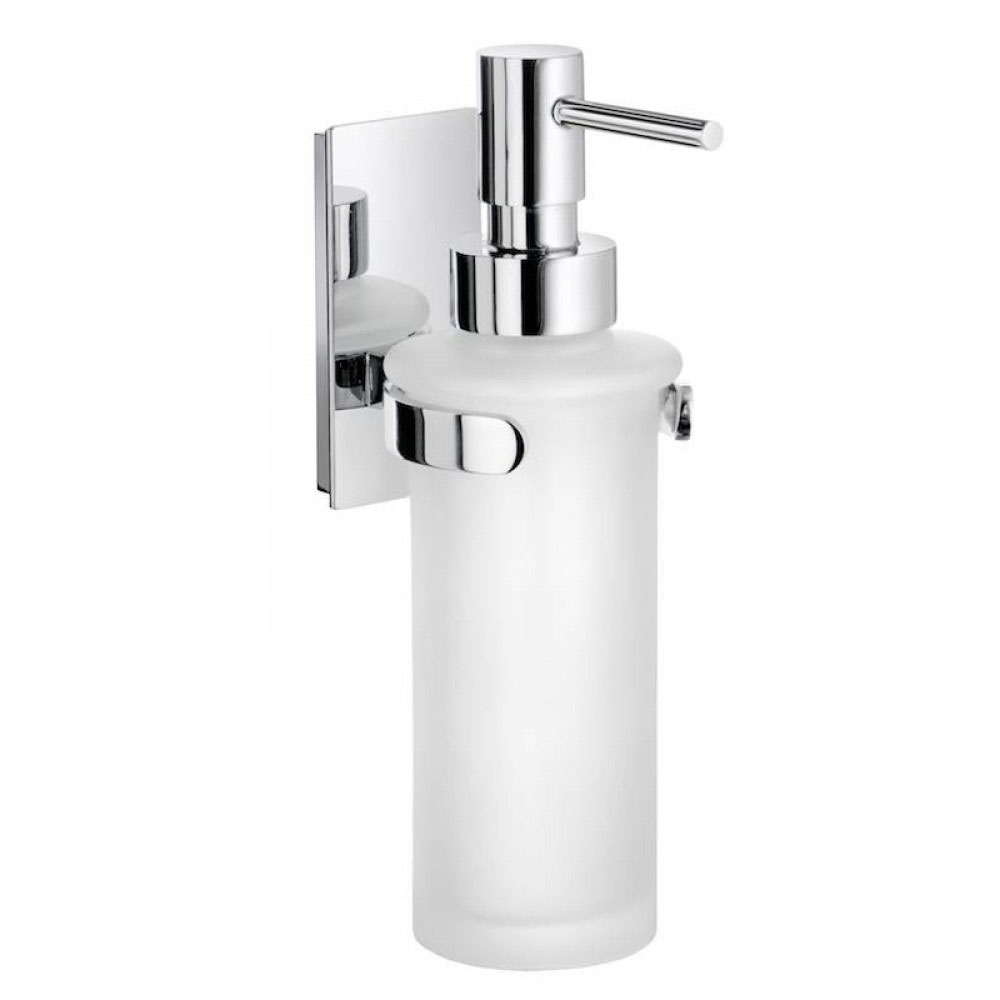 Smedbo Pool Wall Mounted Frosted Glass Soap Dispenser - Polished Chrome - ZK369 Large Image
