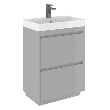 Crosswater Zion 60 Floor Standing Unit + Basin - Storm Grey Matt