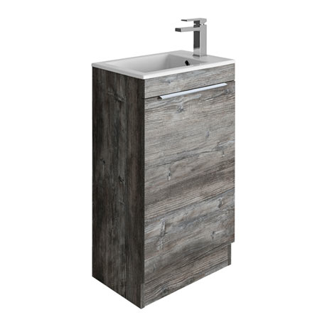 Bauhaus Zion Single Door Floor Standing Unit + Basin - Driftwood
