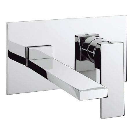 Crosswater - Zion Wall Mounted 2 Hole Set Basin Mixer - ZN121WNC