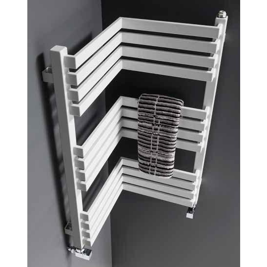 Bauhaus Zion Towel Rail - 350 x 735mm - Soft White Matte profile large image view 2