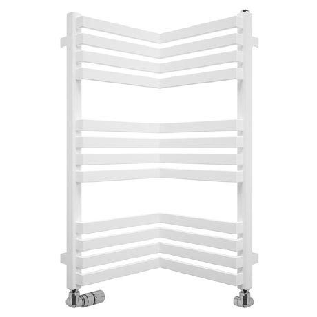Bauhaus Zion Towel Rail - 350 x 735mm - Soft White Matte