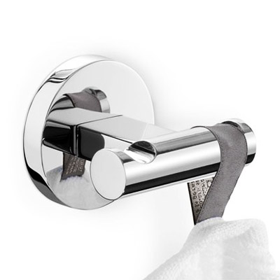 Zack - Scala Stainless Steel Double Towel Hook - 40063 profile large image view 1
