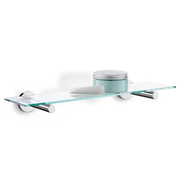 Zack - Scala Modern Stainless Steel and Glass Bathroom Shelf - 40006 ...