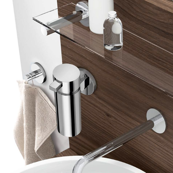 Zack - Scala Stainless Steel Wall Mounted Soap Dispenser - 40080 Profile Large Image