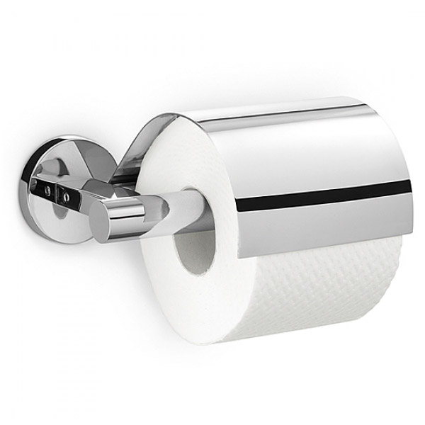 Zack - Scala Stainless Steel Toilet Roll Holder with Lid - 40051 Large Image