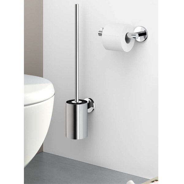 Zack Scala Wall Mounted Stainless Steel Toilet Brush And Holder 40055 At Victorian Plumbing Uk