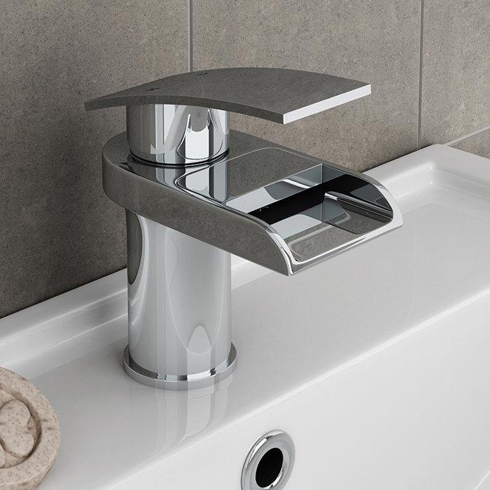 Zen Waterfall Cloakroom Mono Basin Mixer + Waste  Standard Large Image