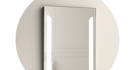 mirror with shaving socket