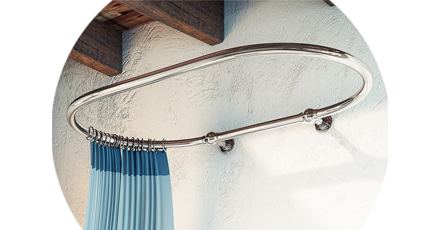 traditional shower curtain rail