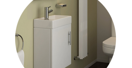 cloakroom vanity unit
