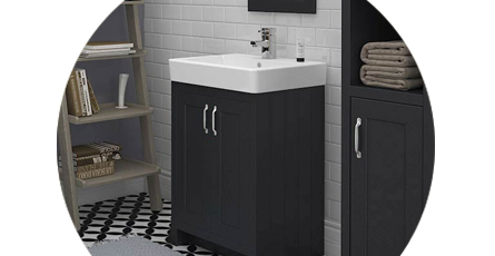 freestanding vanity unit