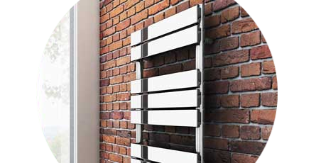 Small Designer Bathroom Radiators this funky angular designer radiator will look fantastic paired