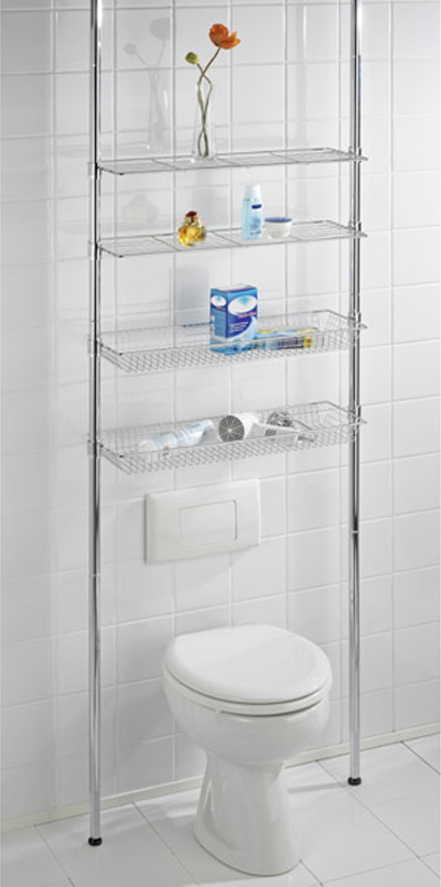 Wenko Ellera Telescopic Rack in Chrome - 18597100
