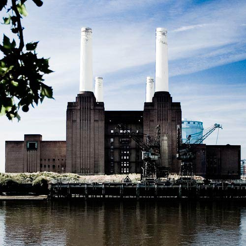 Art deco inspired Battersea Power Station, London