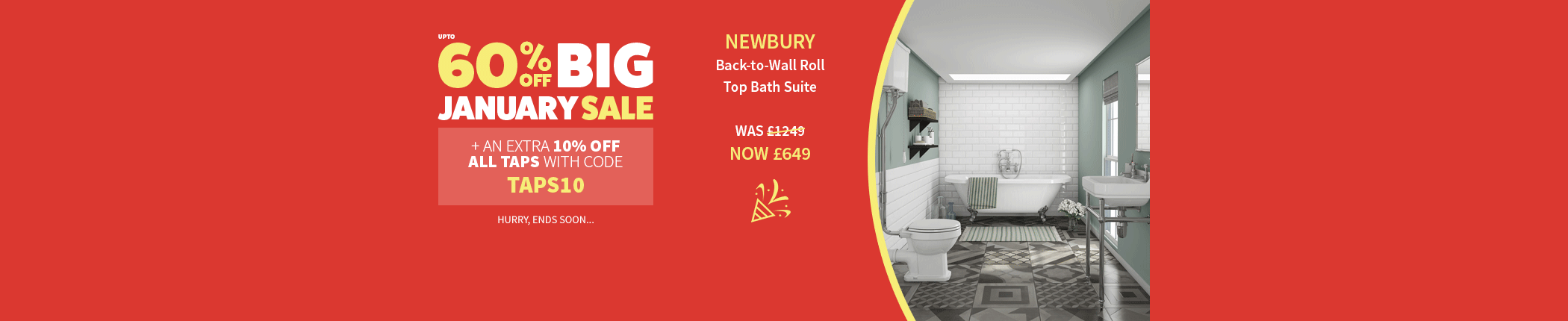 big-january-sale-all-taps-newbury-back-to-wall-roll-top-bath-suite-countdown-jan17-hbnr