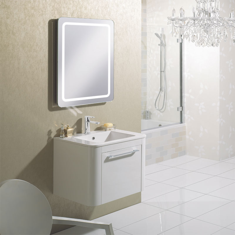 Bauhaus - Celeste 80 LED Back Lit Mirror with Demister Pad - MF8060B profile large image view 3