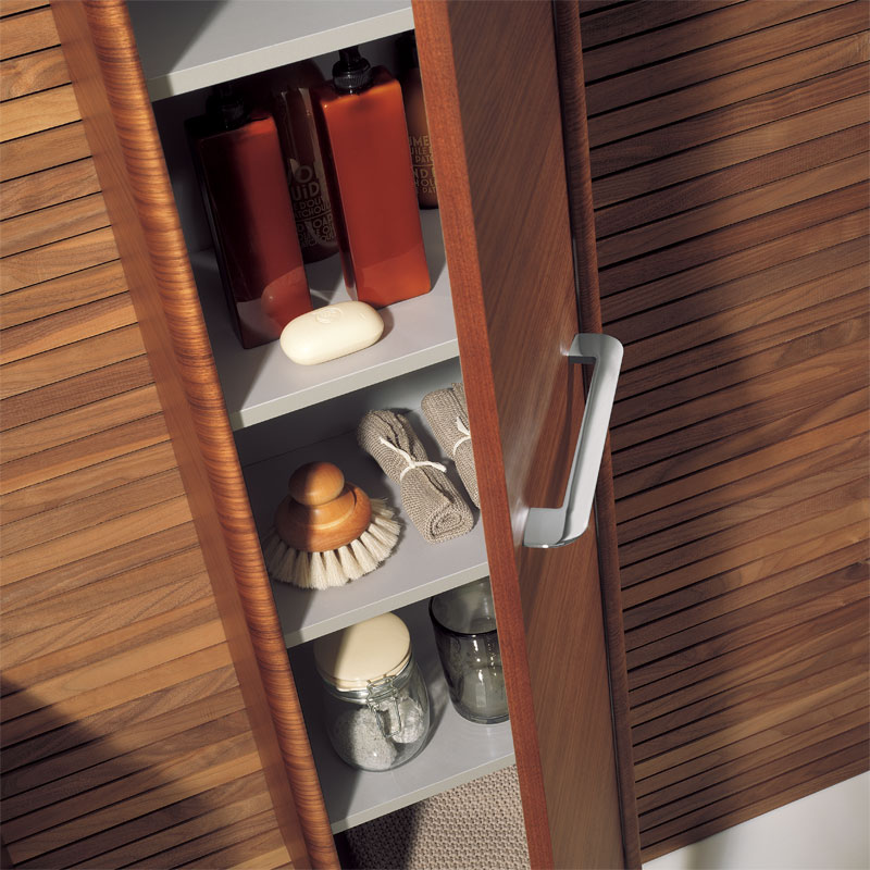 Bauhaus - Celeste Wall Hung Tower Unit - American Walnut - CL3516FAW profile large image view 2