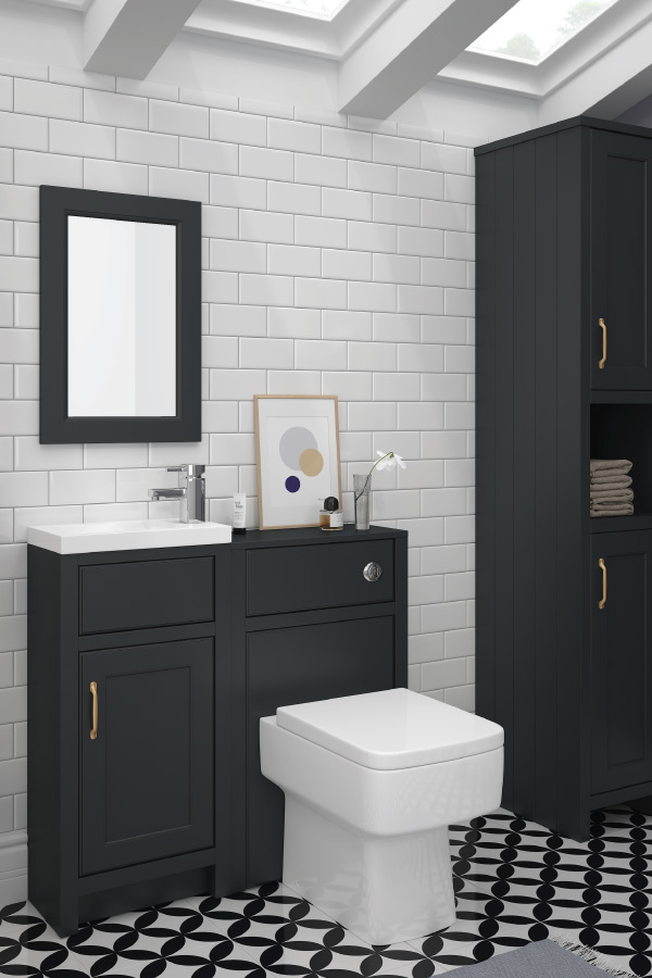 Chatsworth bathroom furniture in graphite grey