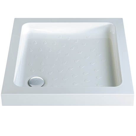 MX Classic Flat Top Square Stone Resin Shower Tray