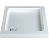 MX Classic Flat Top Square Stone Resin Shower Tray profile small image view 1