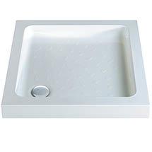 MX Classic Flat Top Square Stone Resin Shower Tray Medium Image