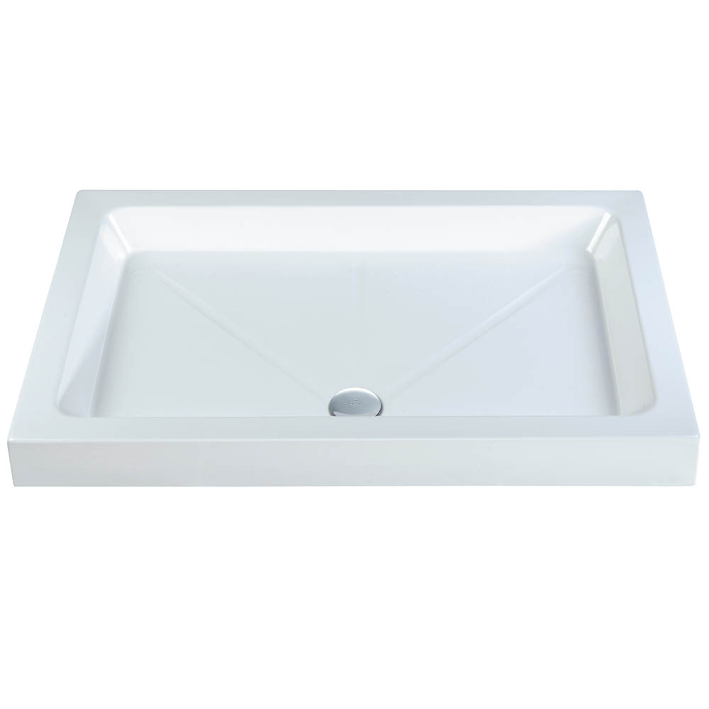 MX Elements Low Profile Stone Resin Rectangle Shower Tray 800 x 760 Made In UK