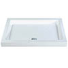 MX Classic Flat Top Rectangular Stone Resin Shower Tray profile small image view 1