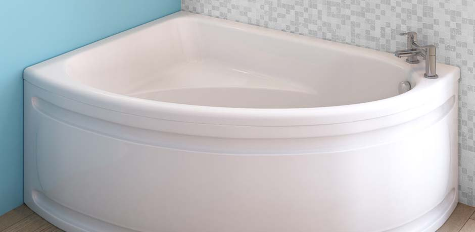 stylish corner bathtub