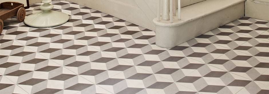 Cube Grey Patterned Tiles