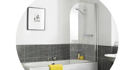 curved bath screens