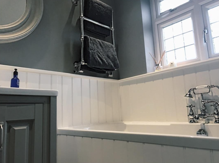 Emily's traditional bathroom is a mix of beautiful dark neutral tones | Emily's Traditional Bathroom - Bromley, Kent
