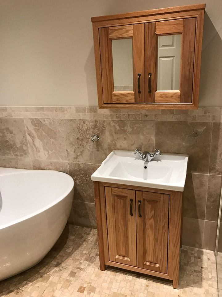 Neutral coloured wall and floor tiles | Faith'a Family Bathroom - Walsall, Midlands